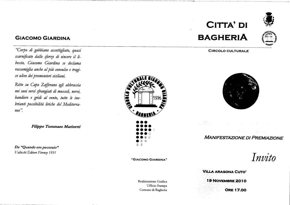Premiati  Premio G. Giardina 2010 1